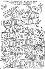 Fruit Of The Spirit Links Coloring PagesQuote