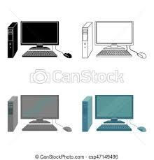 arriere plan de bureau animé style informatique illustration bureau personnel vecteurs