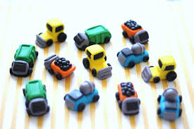 100 Toppers For Trucks Fondant Cupcake 12 Construction Truck Garbage Etsy