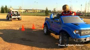 100 Dodge Truck Power Wheels TugofWar Battle 1 Kid Trax Ram Vs Ford F150