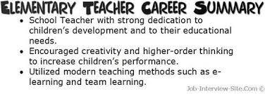 Resume Career Summary Examples Of
