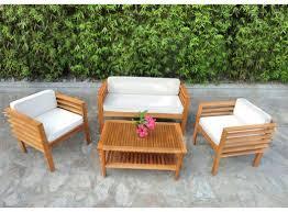 canapé teck jardin salons de jardin pas cher tables en résine bois teck rotin et
