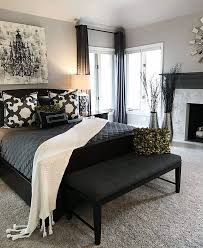Black Curtains And Furniture Great Way To Darken Up An Apartment Master Bedroom