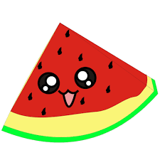 Watermelon clipart black and white free 4