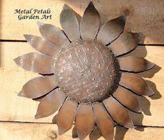 Wall Flower Metal Petals Garden Art Sunflower