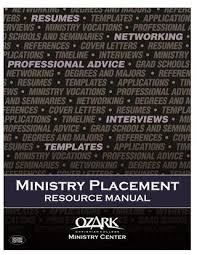 Ministry Placement Resource Manual Second Edition Authors Krystin Stroud Robert G Witte Jr Unpublished Work AS 2015 Ozark Christian College ALL RIGHTS