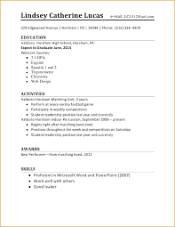 Job Cv Template For 16 Year Old Experience First Student Resume Examples Basic Letter Of Well