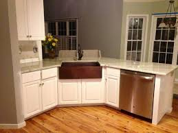 image of copper kitchen sinks with white cabinets kitchens