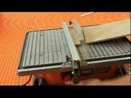 Ridgid 7in Tile Saw With Laser by Ridgid Wet Saw Review Youtube