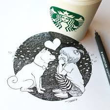 Drawing On Starbucks Cup Tomoko Shintani