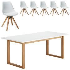 essgruppe hanstholm blokhus 90x190 6 stühle weiß
