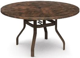 Homecrest Hammered Metal 42 Round Balcony Table Without Splayed