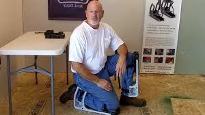 k2s kraft seat adjustable and comfortable pain saving knee pads