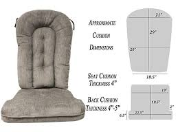 Amazon.com: Replacement Cushion Set Glider Rocker, Grey Color: Home ...