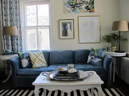 interior living room blue sofa design navy blue sofa living room