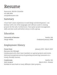 Format Of Resumes For Jobs