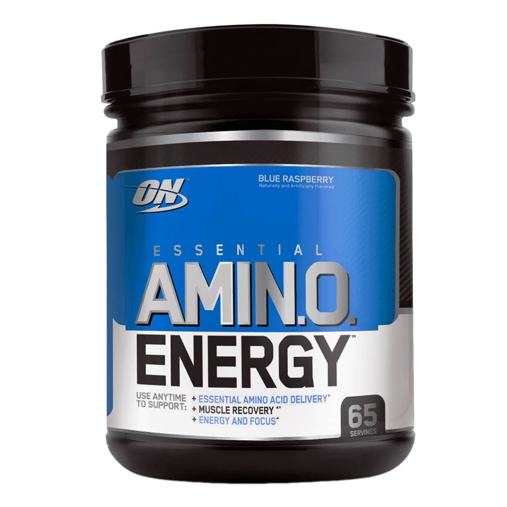 Optimum Nutrition Amino Energy Sports Supplement - Blue Raspberry, 65 Servings