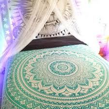 Amazon RawyalCrafts Green Ombre Tapestry Indian Hippie