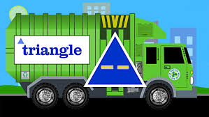 Learn Shapes Garbage Truck Learning Trucks For Kids On First Gear ...
