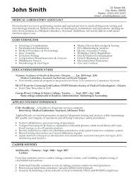 Resume Examples For Medical