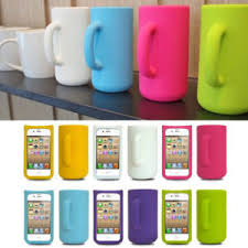 Soft Mug Cup 3D Design Silicone Skin Back Case Protector Cover For