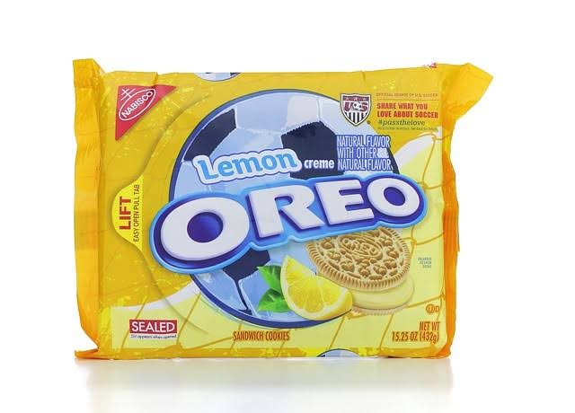 Nabisco Oreo Sandwich Cookies - Lemon Creme, 15.25oz