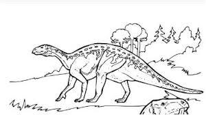 Dinosaur Iguanodon Coloring Page