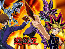 Yami Yugi Battle City Deck List by Seto Kaiba With His Blue Eyes White Dragon And Yami Yugi With His