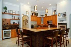 how to decorate a kitchen wall large kitchen island with seating