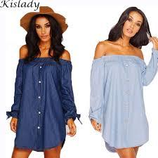 2017 Women S Y Strapless A Line Imitation Denim Dress Lone