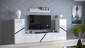moderne wohnwand mediawand anbauwand ida 13 4 hängemodule 230 cm hochglanz farbvarianten
