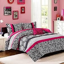 Amazon forter Bed Set Teen Kids Girls Pink Black White