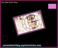 wood clock plans cnc 121909 woodworking plans and projects