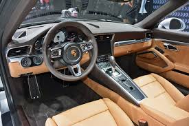 2017 Porsche 911 interior steering wheel and lcd screen