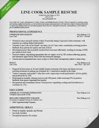 Prep Cook Resume Accurate Line Sample Professional For A With Medium Image