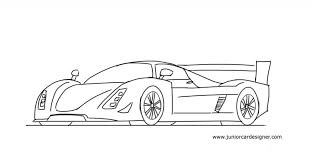 Car Drawings Easy How To Draw A Le Mans Race Car Junior Car Designer