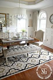 Rugs For Dining Rooms Contemporary 5 RULES CHOOSING THE PERFECT DINING ROOM RUG StoneGable Inside 3