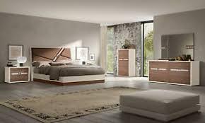 details zu schlafzimmer komplett set mehrfarbig braun beige stil modern italienische möbel