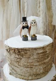 Owls Wedding Cake Topper Snow Owl Barn Bride Groom Nest Rustic OWLS