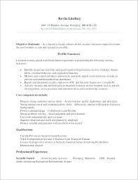 Sample Security Resume Officer Clearance Example Examples Of Resumes
