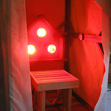 infrared sauna light box vertical emits near middle and far