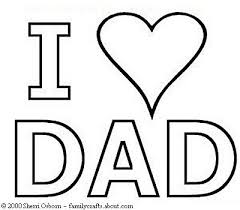Fathers Day Coloring Pages I Heart Dad Page