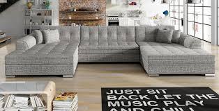 u form ecksofa sofa wohnlandschaft vento bettkasten schlaffunktion farbe wählbar