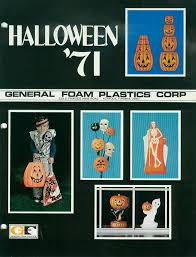 Halloween Blow Mold Display by General Foam Catalog 1971 Blow Molds Planetchristmas