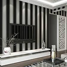 3d tapete stereo schwarz grau gestreift vliesstoff