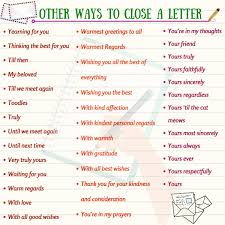 How To End A Letter In English ESLBuzz Learning English