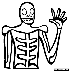 Skeleton Costume Coloring Page