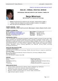 1 Page Resume Format For Experienced