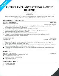 Accounting Resume Examples 2014 Packed With Entry Level Marketing Example
