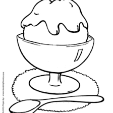 Easy Shapes Coloring Pages Free Printable Ice Cream Sundae